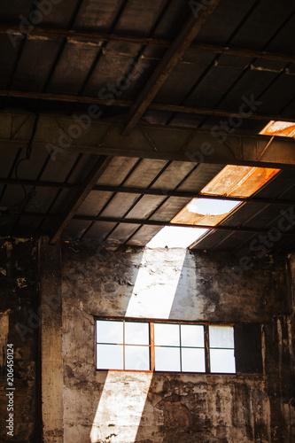 Fotobehang Gebouw in Puin Abandoned building in a port.