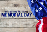 Memorial day background with American flag - 206463740