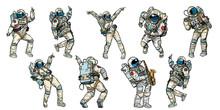 Dancing Astronauts  Sticker