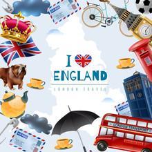 Love England Travel  Sticker