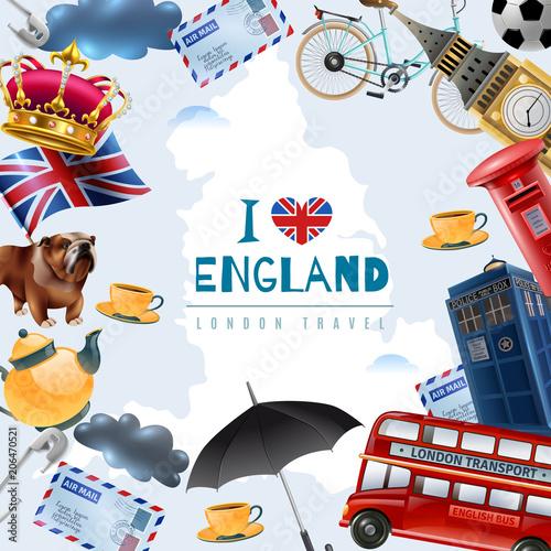 Love England Travel Background - 206470521