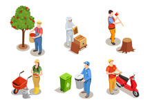 Applicable Professions Isometric Set Sticker