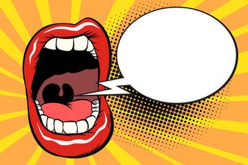 Open mouth comic balloon