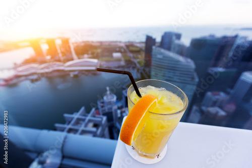 Aluminium Sap Orange cocktail drink