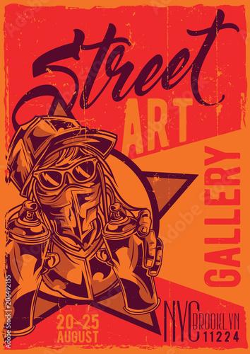 Fotobehang Graffiti Poster label design