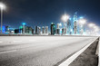asphalt road in morden city