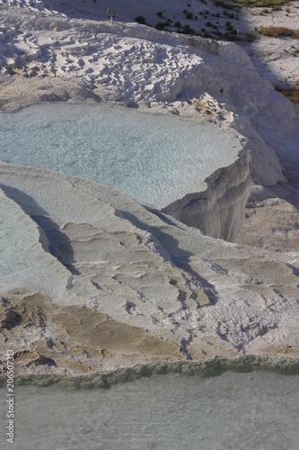 Aluminium Donkergrijs Piscinas naturales en Pamukkale, Turquía