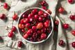 Leinwanddruck Bild - Raw Red Organic Cherries