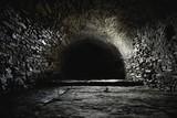 Scary underground, old castle cellar - 206521978