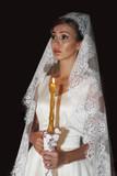 Beautiful bride on wedding ceremony - 206529351