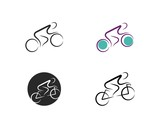Bicycle. Bike icon vector