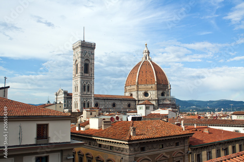 Aluminium Florence Firenze, the cathedral and campanile - Tuscany, Italy