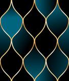 Seamless golden wire oriental pattern - 206555937