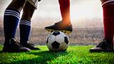 Fototapeta Sport - soccer football match kick off  © pixfly