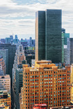 Aerial view with Skyscrapers in Financial District of Lower Manhattan - 206561374
