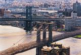 New York Brooklyn Bridge and Manhattan Bridge USA