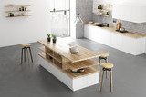 Contemporary kitchen interior - 206563129
