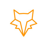 Vector of Logo Fox. Line Graphic Animal.  - 206566704