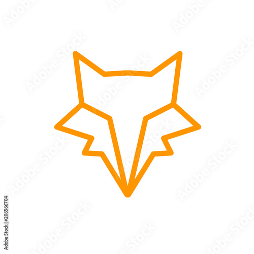 Fototapeta Vector of Logo Fox. Line Graphic Animal.