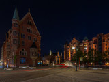 Nachts in Hafencity - at night in the harbour district