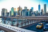 Manhattan Skyline from the Brooklyn Bridge (New york City) during the sunset