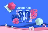 Summer sale banner design - 206591561