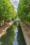 Canal St. Martin in Paris on a beautiful sunny day with reflections in the water