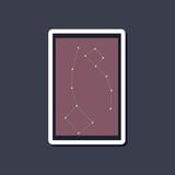 paper sticker on stylish background constellation