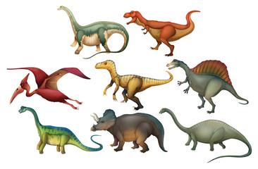 A Set of Diffrent Dinosaurs © blueringmedia