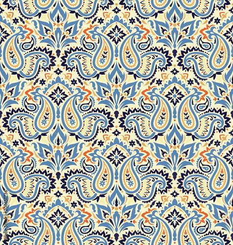 Cotton fabric Seamless paisley pattern