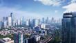 Leinwanddruck Bild - Beautiful Jakarta city under clear sky