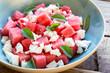 Leinwanddruck Bild - watermelon and feta salad