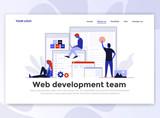 Flat Modern design of Landing page template - Web Development - 206660726