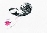 beautiful woman. fashion illustration. watercolor painting - 206660918