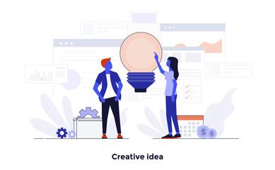 Modern Flat design Concept Illustration - Creative Idea