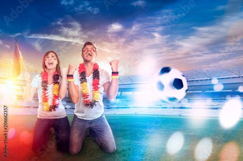 Aluminium Voetbal Fans zur WM