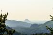 Blick auf den Lilienstein in der Sächsischen Schweiz, Elbsandsteingebirge