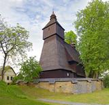 Hervartov near Bardejov, Slovakia. Church was constructed at the end of 15th century. UNESCO World Heritage