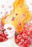 beautiful woman. fashion illustration. watercolor painting - 206701799