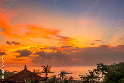 Plexiglas Bali Sunset over the Beach of Bali