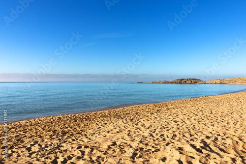 Fotobehang Blauw Spiaggia di Campana, Sardegna