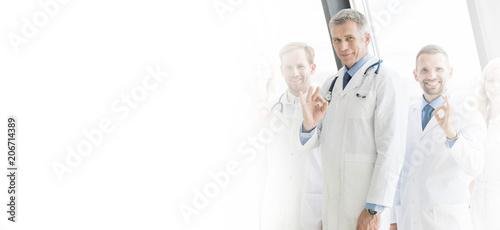 Leinwanddruck Bild Medical team in hospital