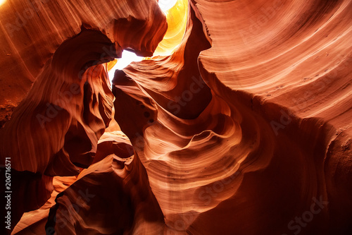 Aluminium Rood paars Real images of the lower Antelope canyon in Arizona, USA