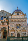 Part of facade from Basilica of Santa Maria Maggiore, Bergamo, Italy - 206727388