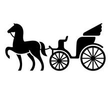 Vintage Horse Drawn Carriage Sticker