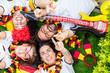 Leinwanddruck Bild - Deutsche Fussball Fans im WM Fieber