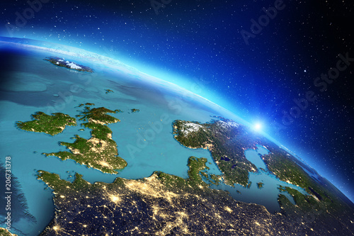Planet Earth geography. 3d rendering