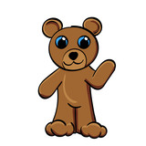 Cartoon Bear Waving