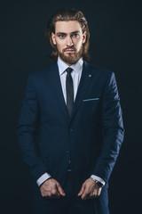 elegant suit and shirt