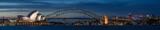 Sydney harbour at dusk, Sydney NSW, Australia